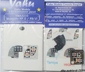 YAHU YMA3210 - 1:32 Mosquito NF.II & FB.VI - Instrument Panel