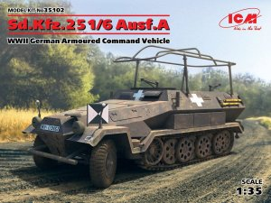 ICM 35102 - 1:35 Sd.Kfz.251/6 Ausf.A WWII German Armoured Command Vehicle