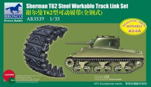 BRONCO AB 3539 - 1:35 Sherman T62 Steel Workable Track Link Set