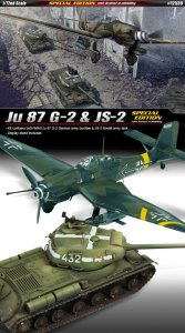 ACADEMY 12539 - 1:72 Ju 87 G-2 & JS-2 - Special Edition
