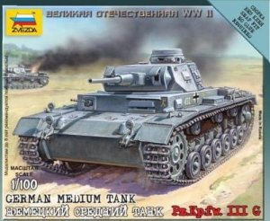 ZVEZDA 6119 - 1:100 German Medium Tank Pz.Kpfw III G