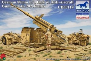 BRONCO CB 35114 - 1:35 German 88 mm L71 Flak 41 AA Gun w /Sd.Ah.202 Trailer