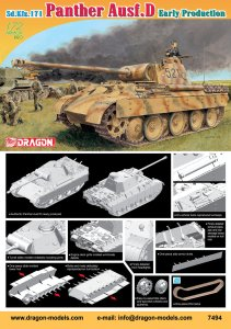 DRAGON 7494 - 1:72 Sd.Kfz.171 Panther Ausf.D Early production