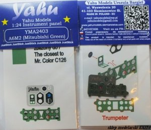 YAHU YMA2403 - 1:24 A6M2 (Mitsubishi green) - Instrument Panel