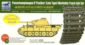 BRONCO AB 3540 - 1:35 Panther Late Type Workable Track Link Set