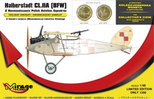 MIRAGE 480003 - 1:48 Halberstadt CL.IIA (BFW) with coin