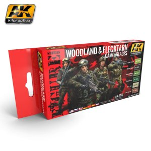 AK INTERACTIVE 3250 - Woodland & Flecktarn Camouflages Colors Set