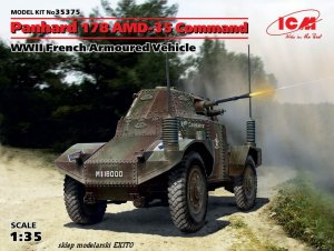 ICM 35375 - 1:35 Panhard 178 AMD-35 Command - WWII French Armoured Vehicle