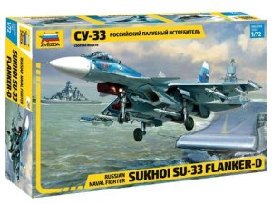 ZVEZDA 7297 - 1:72 Sukhoi Su-33 Flanker D Russian Naval Fighter