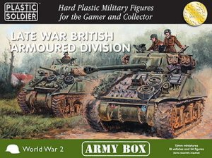PLASTIC SOLDIER PSCAB15002 - 15 mm Late War British Armoured Division - Army Box
