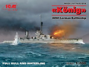 ICM S.014 - 1:700 Konig WWI German Battleship
