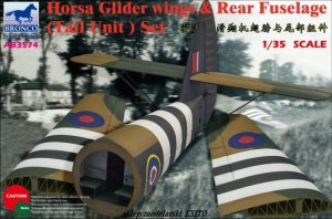 BRONCO AB 3574 - 1:35 Horsa Glider Wings & Rear Fuselage ( Tail Unit ) Set