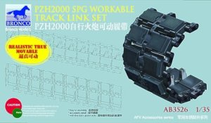 BRONCO AB 3526 - 1:35 German 155mm SPz2000 Workable Track Link Set