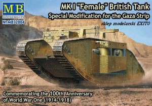 MASTER BOX 72004 - 1:72 MK I  Female - British Tank - Special Modification for the Gaza Strip