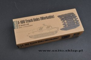 TRUMPETER 02049 - 1:35 E-100 Track links (Workable) for German E-100