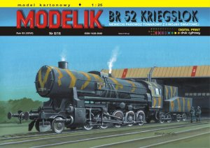 MODELIK 1608 - 1:25 BR 52 Kriegslok - WW II German steam war-locomotive