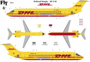 FLY 14412 - 1:144 DC-9-40  DHL