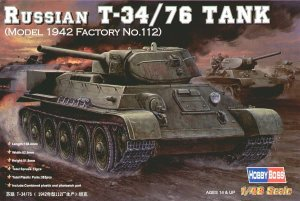HOBBY BOSS 84806 - 1:48 Russian T-34/76 (model 1942 Factory No.112) Tank