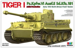 RYE FIELD MODEL 5001 - 1:35 Tiger I Pz.Kpfw. VI Ausf E Early 1943 North African Front - Tunisia