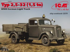 ICM 35401 - 1:35 Typ 2,5-32 (1,5 to) Opel Blitz - WWII German Light Truck
