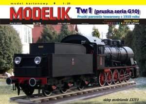 MODELIK 1602 - 1:25 Tw1 Pruska seria G10 - Steam locomotive 1910 (Prussian series G10)