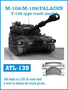 FRIULMODEL ATL 139 - 1:35 M108 / M109 / Paladin T136 type track (early)
