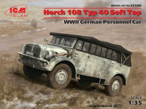 ICM 35506 - 1:35 Horch 108 Typ 40 Soft Top  WWII German Personnel Car