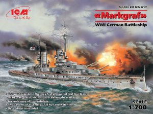 ICM S.017 - 1:700 Markgraf WWI German Battleship