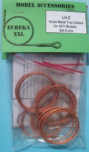 EUREKA XXL LH-Z - Metal wire rope for AFV Kits set LH-00 to LH-07; 8 pcs. 50 cm