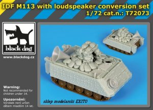 BLACK DOG T72073 - 1:72 IDF M113 with loudspeaker conversion set