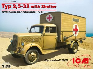 ICM 35402 - 1:35 Typ 2,5-32 with Shelter WWII German Ambulance Truck