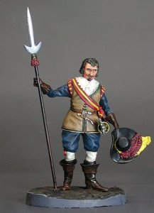 M-MODEL 32024 - 54 mm - Officer with Javelin, 30 Years War 1618-1648