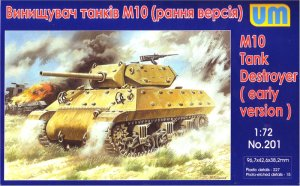 UNIMODELS 201 - 1:72 M10 Tank destroyer (early version)
