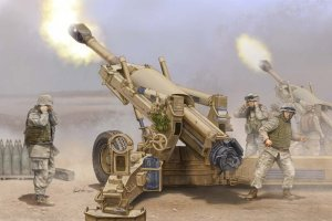 MERIT 61602 - 1:16 US 155mm M198 Towed Howitzer