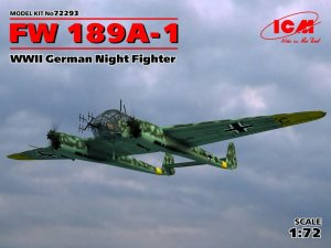 ICM 72293 - 1:72 Focke Wulf FW 189A-1 WWII German Night Fighter