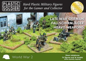 PLASTIC SOLDIER 15014 - 15 mm Late War German Fallschirmjager Heavy Weapons