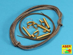 ABER 16030 - 1:16 Tow cables & Track cable w/ brackets for Tiger I, King Tiger, Panther.