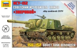 ZVEZDA 5026 - 1:72 ISU-152 Soviet Self Propelled Gun