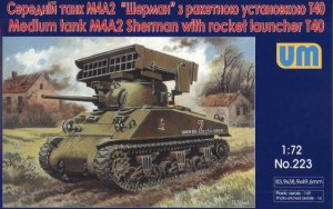 UNIMODELS 223 - 1:72 Medium tank M4A2 Sherman with rocket launcher T40