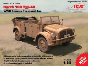ICM 35505 - 1:35 Horch 108 Typ 40 WWII German Personnel Car