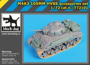 BLACK DOG T72101 - 1:72 M4A3 105MM HVSS accessories set