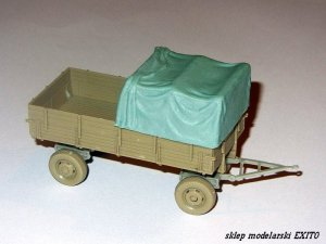 SCHATTON 72004 - 1:72 Tarpaulin Cover for  Mercedes Pritsche or 3 ton Einheitsanhanger Verdeck