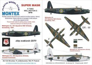 MONTEX K72003 - 1:72 Wellington Mk.IC