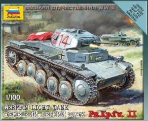 ZVEZDA 6102 - 1:100 German Light Tank Pz.Kpfw II