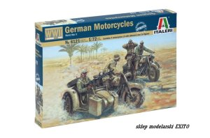 ITALERI 6121 - 1:72 WW II German Motorcycles