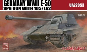 MODELCOLLECT UA72053 - 1:72 Germany WWII E-50 SPG Gun with 105/L62