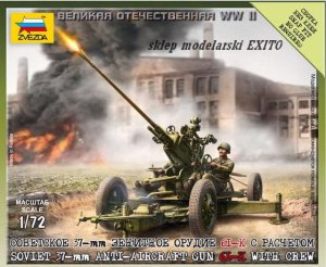 ZVEZDA 6115 - 1:72 Soviet 37-mm Anti-aircraft Gun 61-K with Crew