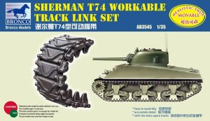 BRONCO AB 3545 - 1:35 Sherman T74 Workable Track Link Set