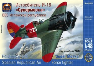 ARK MODELS 48020 - 1:48 Polikarpov I-16 Type 10 Super Mosca the Spanish Republican Air Force fighter