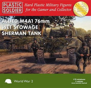 PLASTIC SOLDIER V20005 - 1:72 Allied M4A1Sherman  76mm Wet Stowage Tanks (3 pcs)